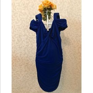 Bar III Fitted Blue Dress - Size XL